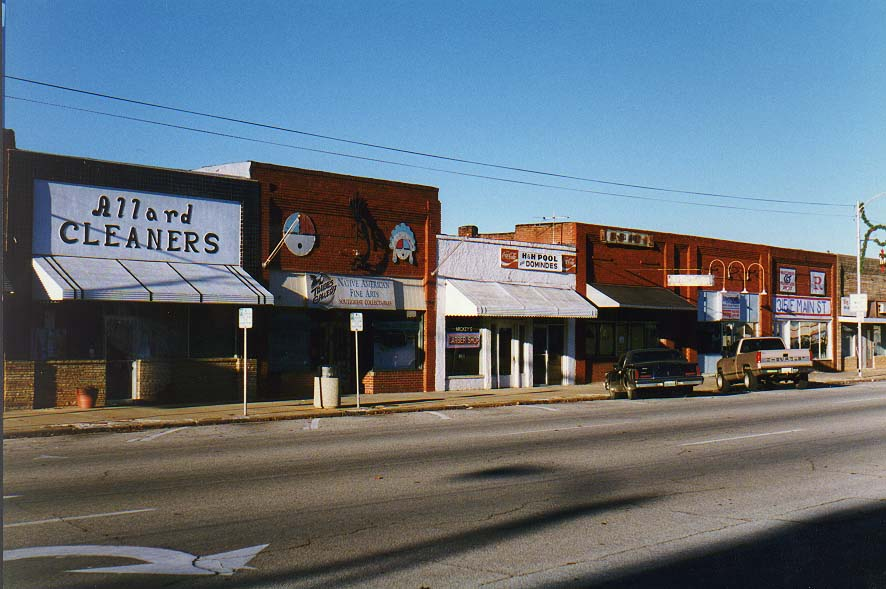 Norman, Wichita Mountains  - downtown Norman 12/1/96