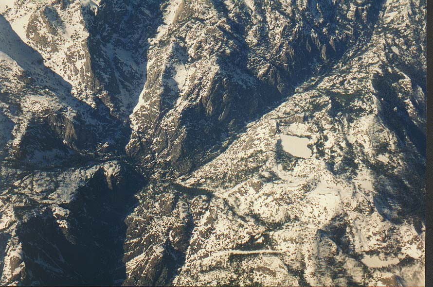 Views of California from a plane: Death Valley, Mono Lake, Yosemite Park, Oakland