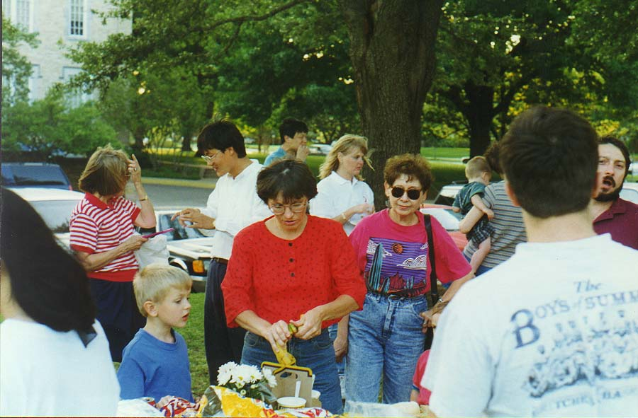 a party for English classes near H. P. Presbyterian Church