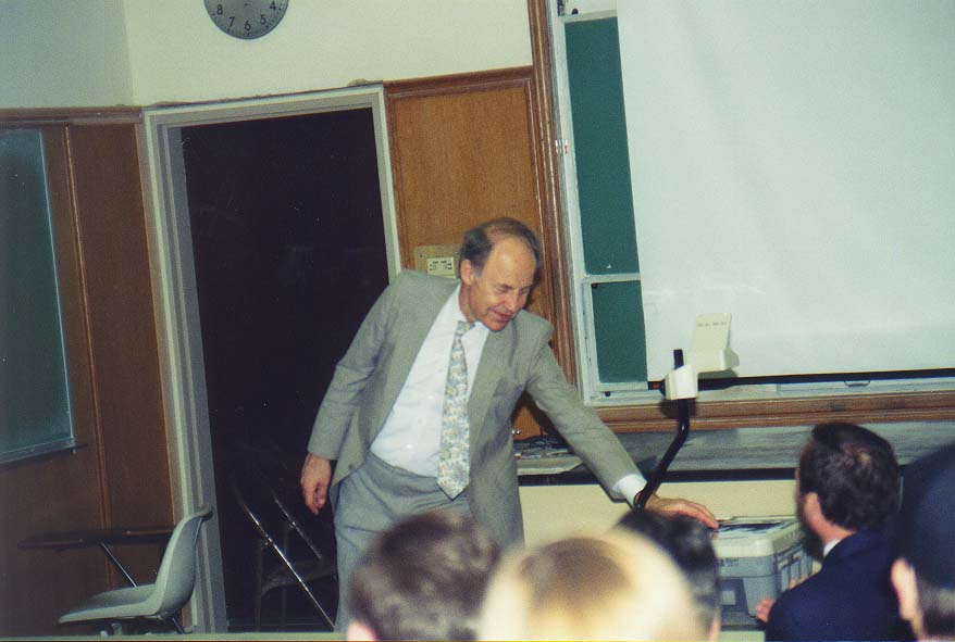 Dallas, May 96 - a lecture of D. R. Herschbach at SMU