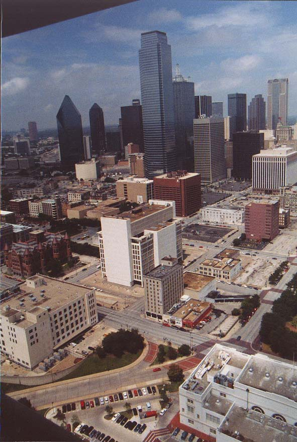 downtown Dallas; views from Reunion Tower