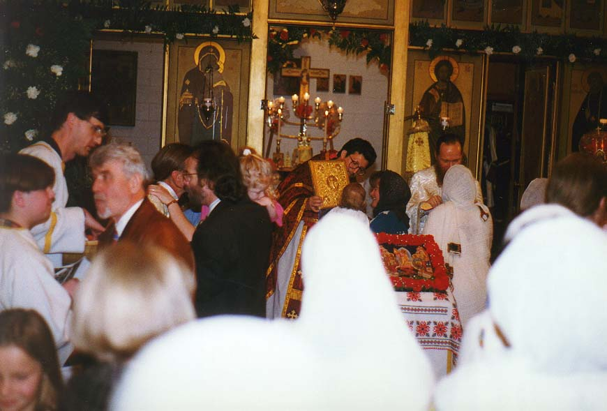 orthodox Easter in a church on Throckmorton St