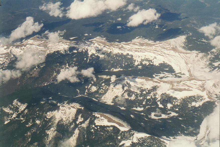 views from the plane: San Francisco, deserts, Colorado River, Rocky Mountains