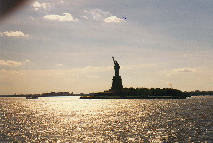 New York  - a ferry to Liberty Island