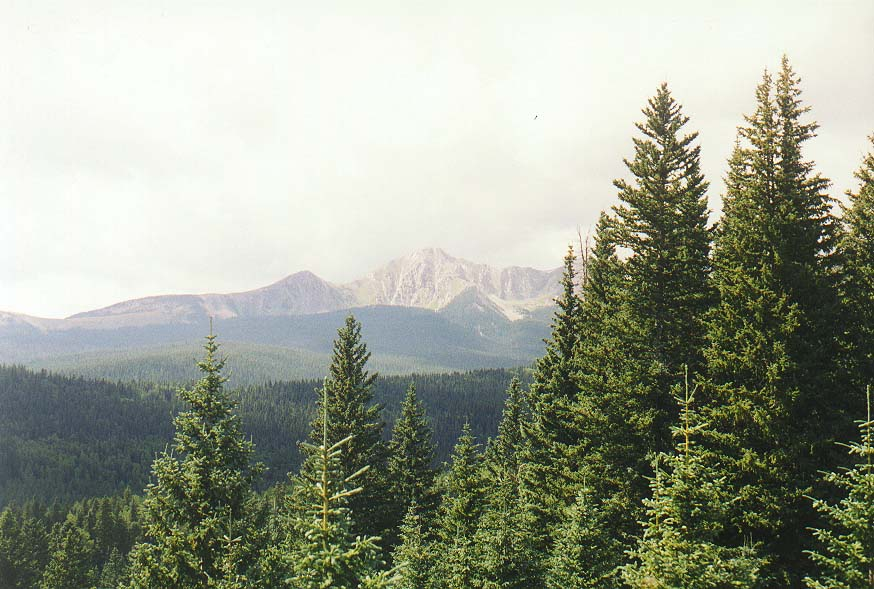 New Mexico mountains  - dayhike to Pecos Falls 8/31/97