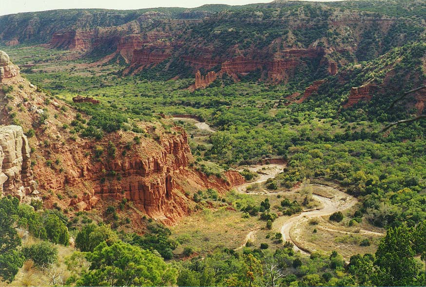 Caprock Canyons State Park morning and afternoon