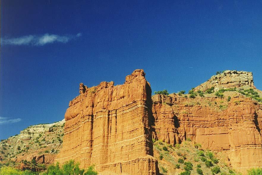 Caprock Canyons State Park afternoon and evening