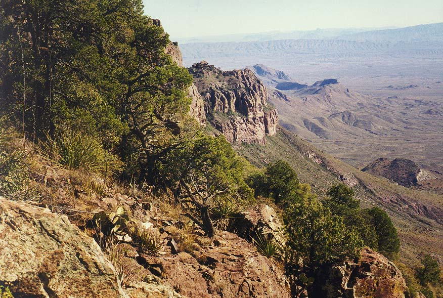 A trip to Big Bend Park morning - dayhike along South Rim