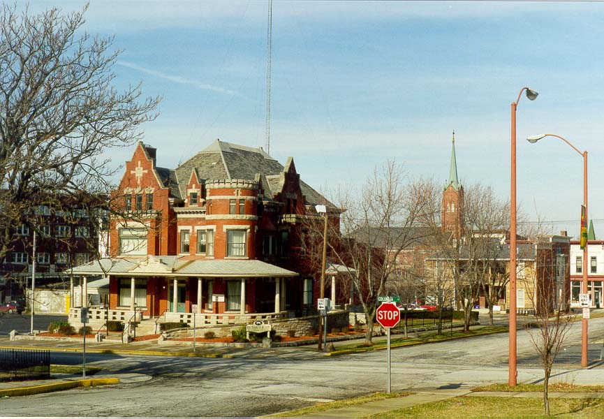 Intersection of Columbia St. and 9th St.. Lafayette, Indiana