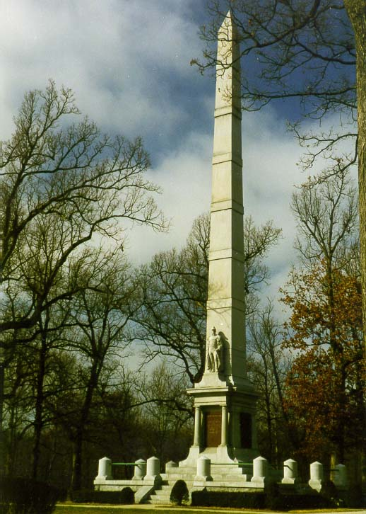 Gen. W. H. Harrison's monument at Tippecanoe Battlefield, north from Lafayette. Indiana