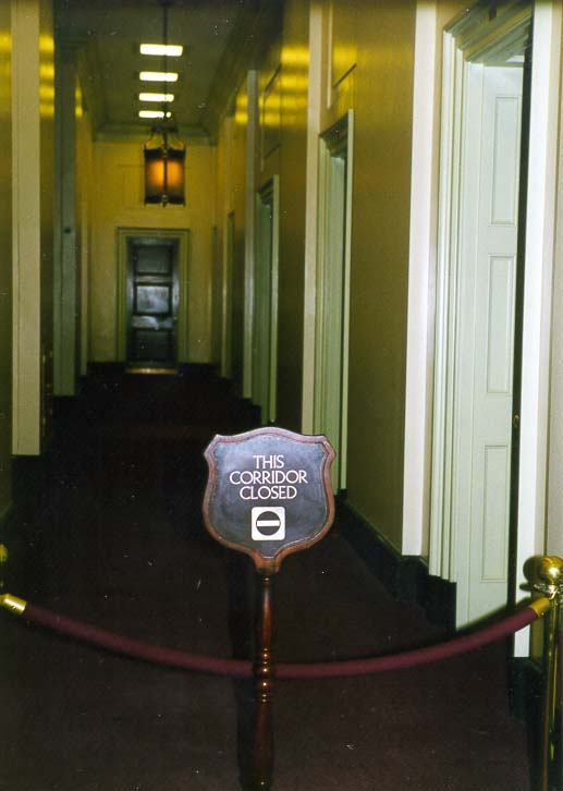 A mysterious closed corridor in the U.S. Capitol. Washington DC