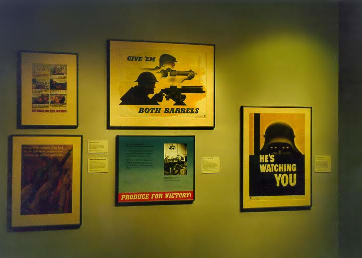 World War II propaganda posters at Museum of American History. Washington DC