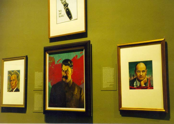 A portrait of Russian communist leader J. Stalin...of American History. Washington DC