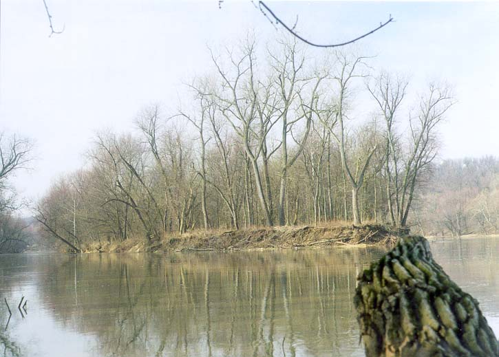 Heron Island on Wabash River between Lafayette and Battle Ground, Indiana