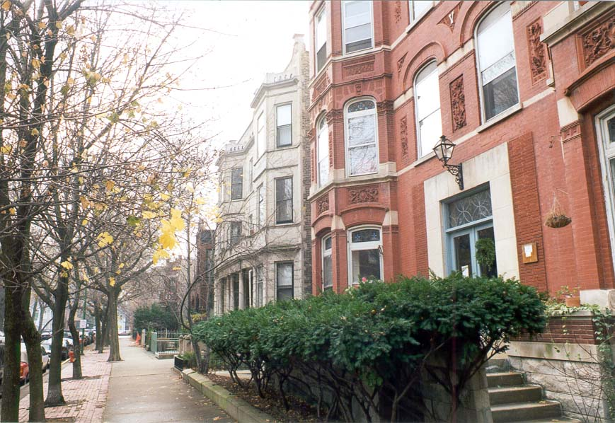 Kemper Avenue, Fullerton Apartments area. Chicago