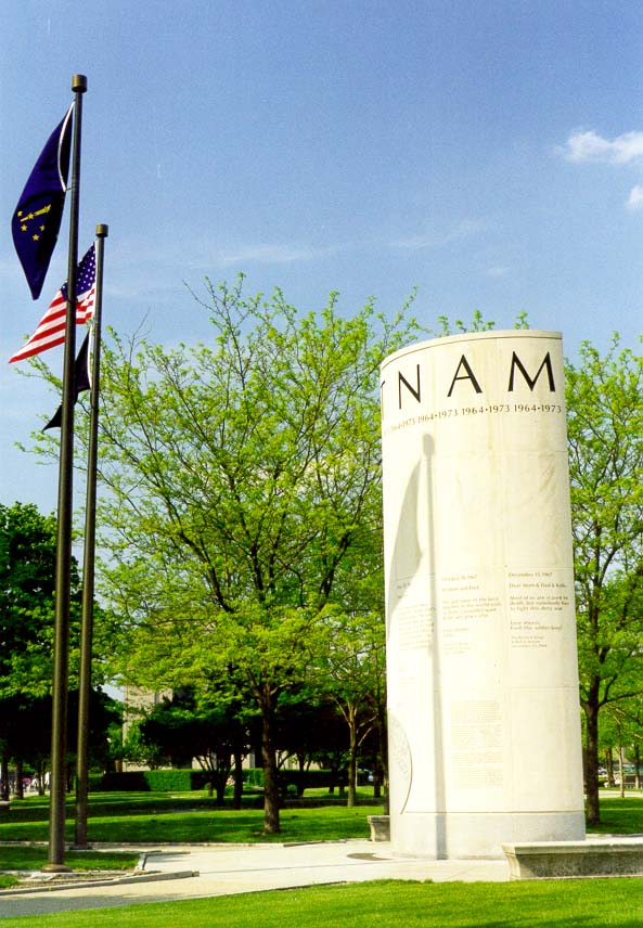 Vietnam War Memorial in Indianapolis. Indiana