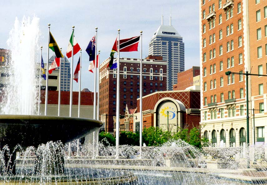 Pan American Plaza in downtown Indianapolis. Indiana