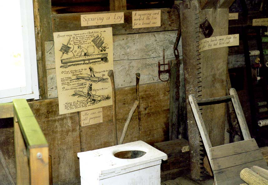 History of pioneers of Indiana presented in Adams...with a running water outlet. Indiana