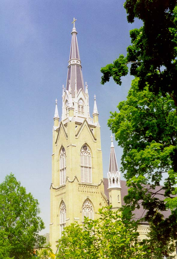 Basilica of the Sacred Heart at a catholic University of Notre Dame. South Bend, Indiana