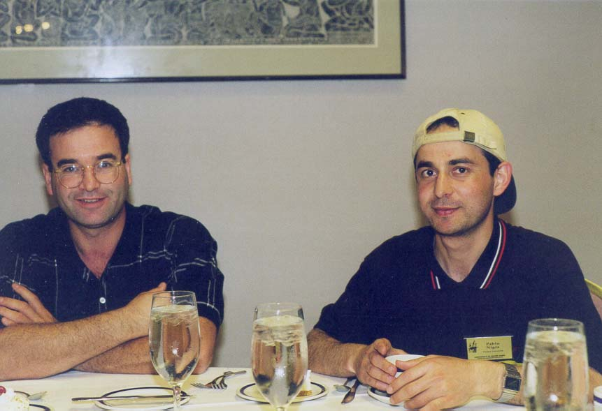 Sabre Kais and Imad Ladadwa at a lunch during...of Notre Dame, South Bend, Indiana