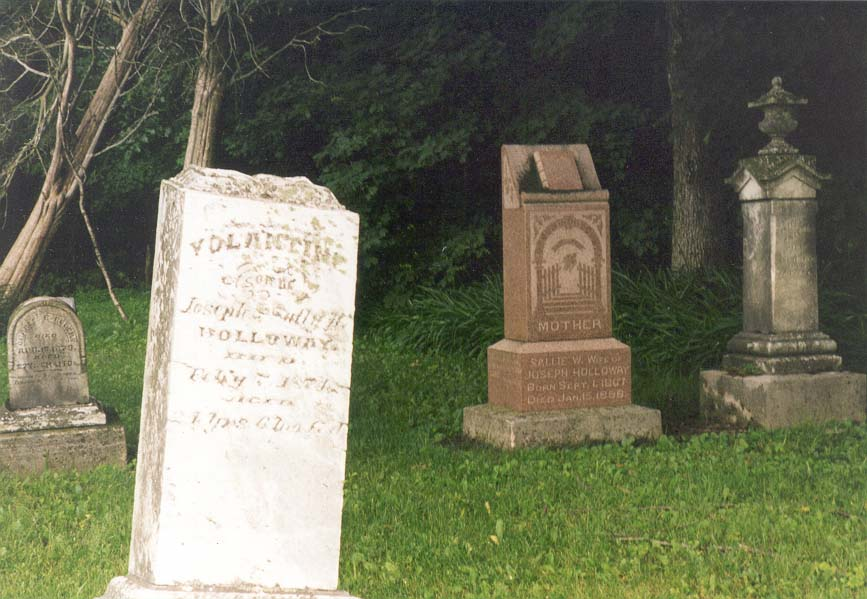 End of the 19th century gravestones near Kerber Rd. west from Lafayette IN