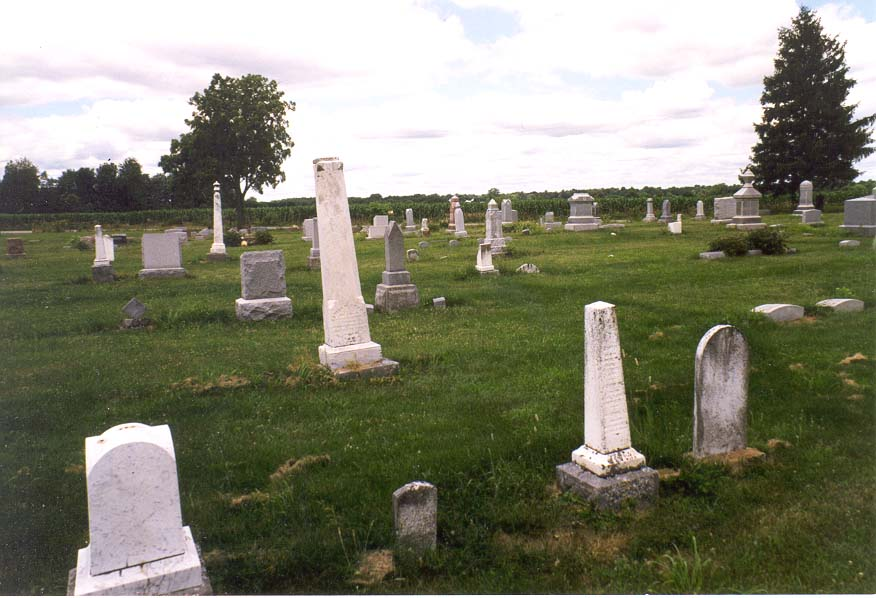 A cemetery at Pretty Prairie Rd. near Lafayette IN