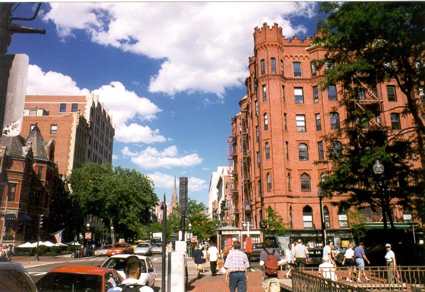 Boston  - Newbury St. at Back Bay in Boston