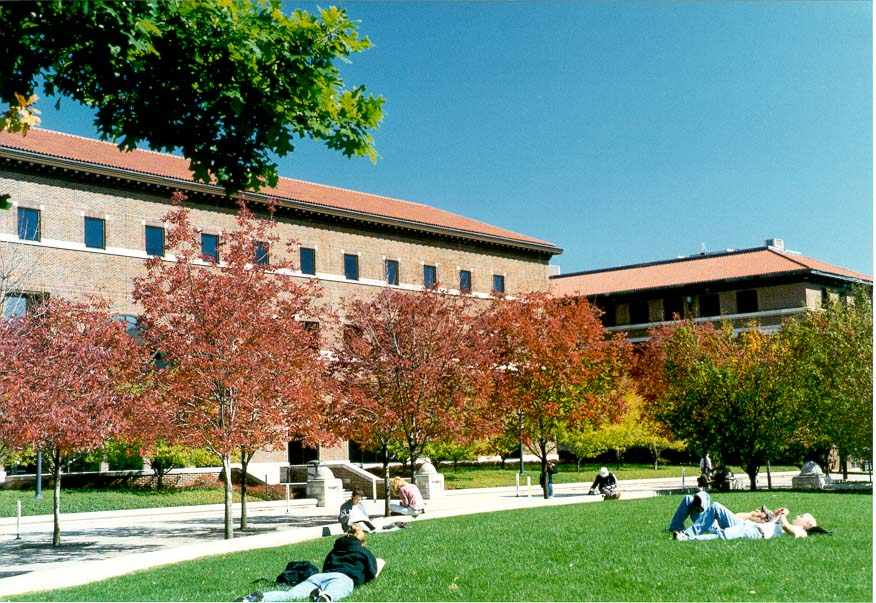 Purdue University Mall and Electrical Engineering Building. West Lafayette, Indiana