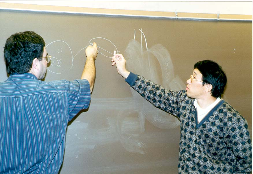 Qicun Shi explains to Sabre Kais correlation...University, West Lafayette, Indiana
