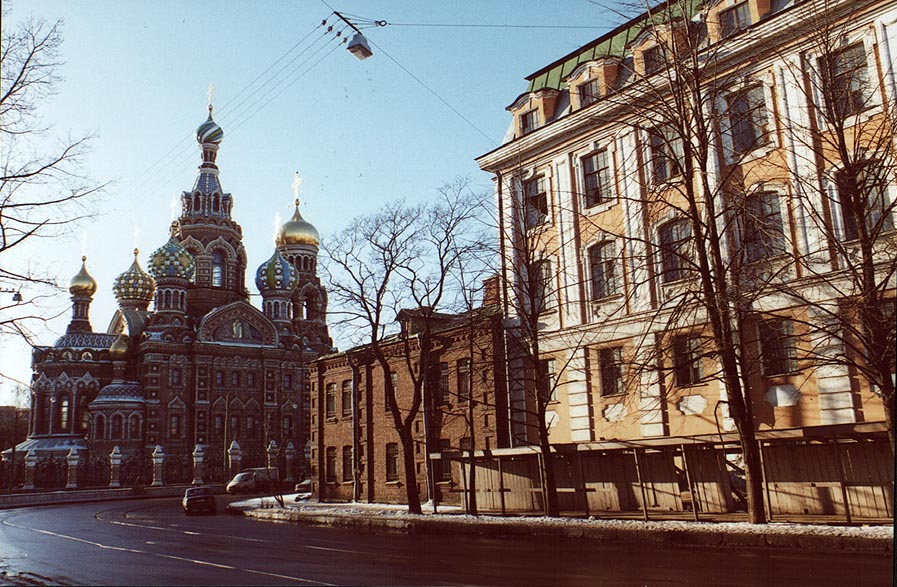 Church of Savior on Blood on Griboedov Canal. St.Petersburg, Russia