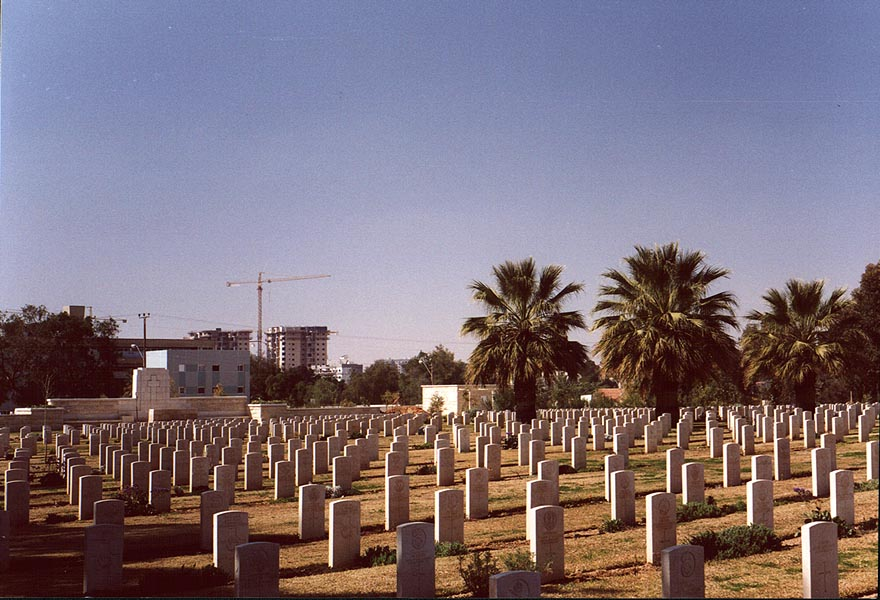 British Army World War I cemetery in downtown Beer-Sheva. The Middle East