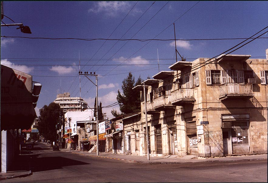 Corner of Ha-Atzmaut and Bet Eshel St. in Old City. Beer-Sheva, The Middle East