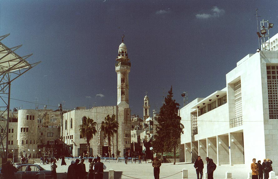 A square in front of Church of the Nativity in Bethlehem. The Middle East