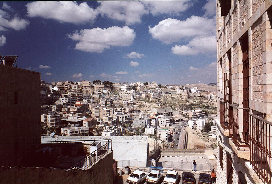 View of Bethlehem from parking garage. The Middle East