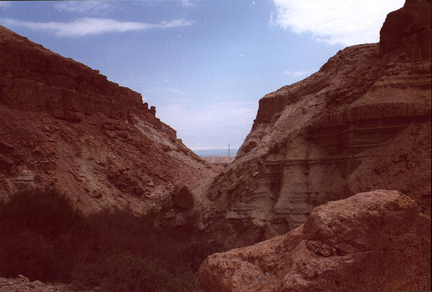 Ein Bokek Creek and Dead Sea. The Middle East