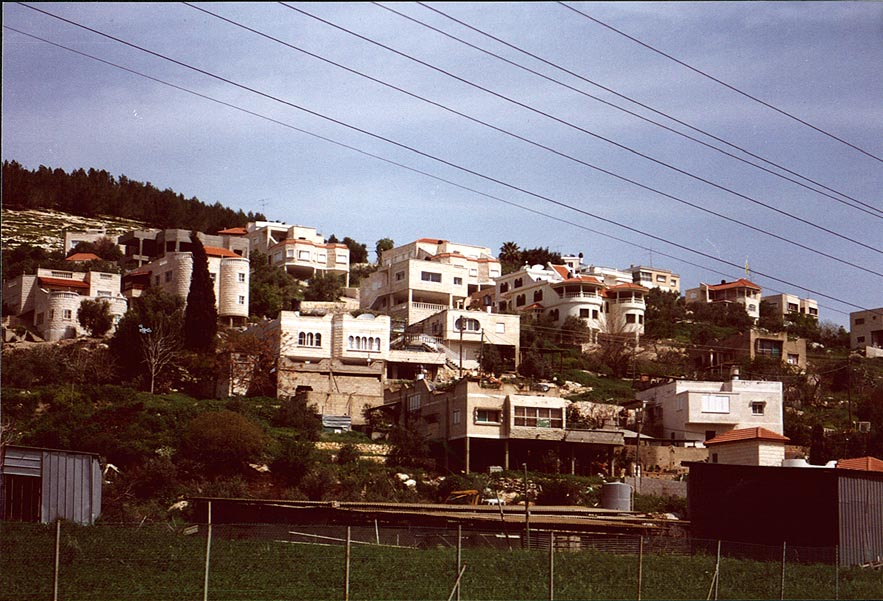 An Arab village near Umm El Fahm, view from the road to Afula. The Middle East