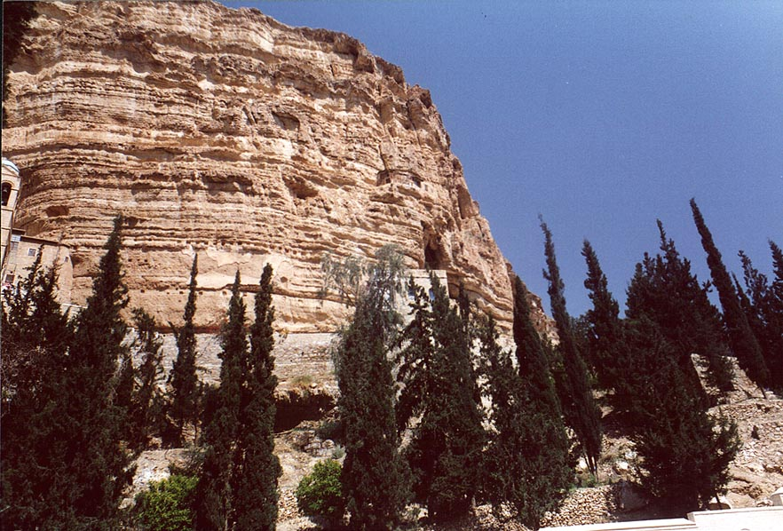 View from St.George Monastery, near Jericho. The Middle East