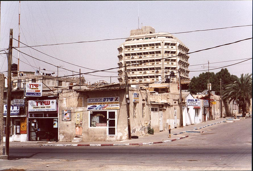 View of Bank Hapoalim building from Bet Eshel...Old City. Beer-Sheva, the Middle East