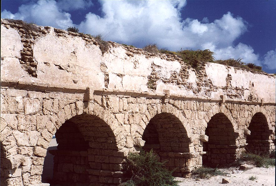 Roman aqueduct in Caesarea. The Middle East