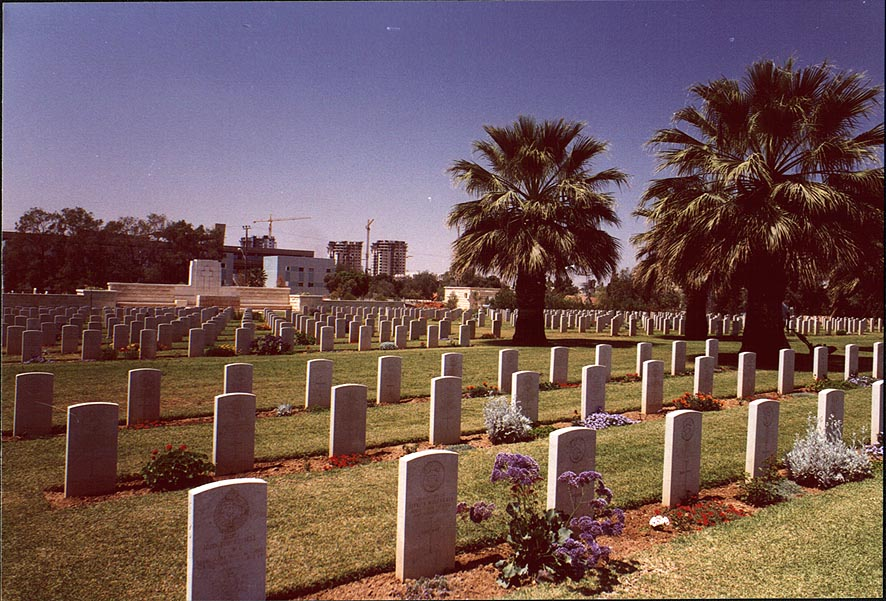British Army World War I cemetery. Beer-Sheva, the Middle East