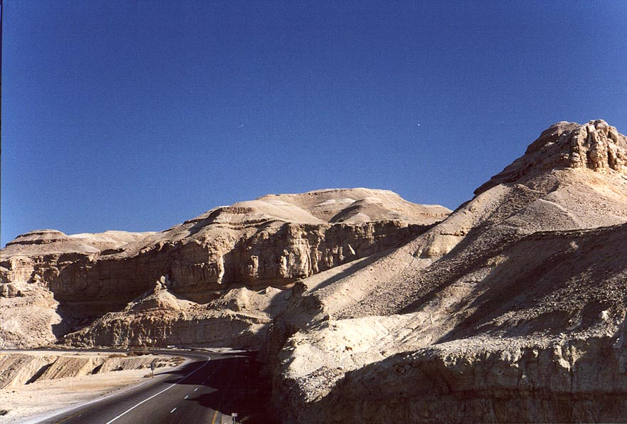 A road along Dead Sea, near Sedom. The Middle East