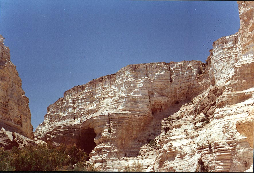 Ein Avdat canyon in Negev Desert. The Middle East