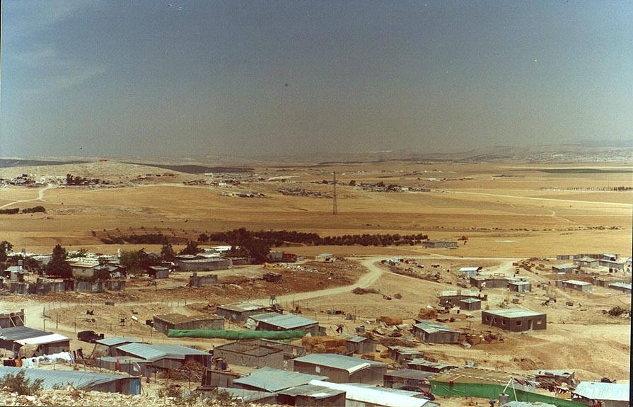 "Illegal"" Bedouin village 2 miles north-east from BGU. Beer-Sheva, the Middle East"