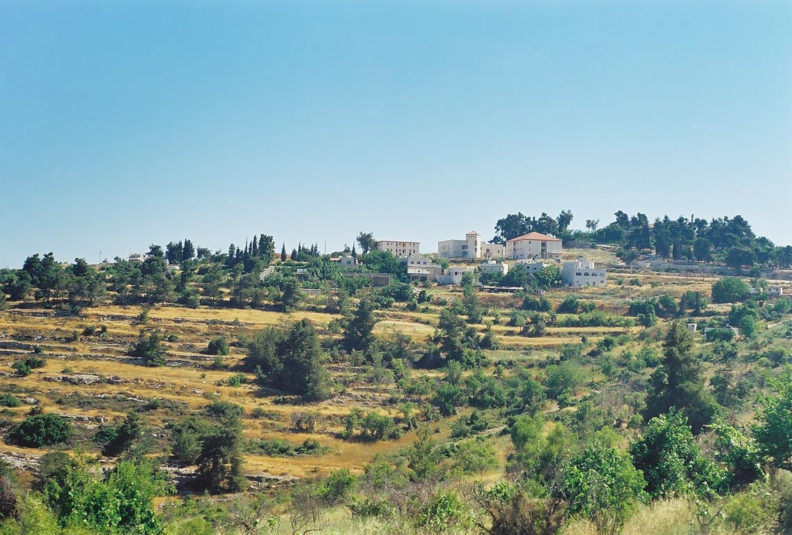 Villages on Judean Hills west from Jerusalem. The Middle East