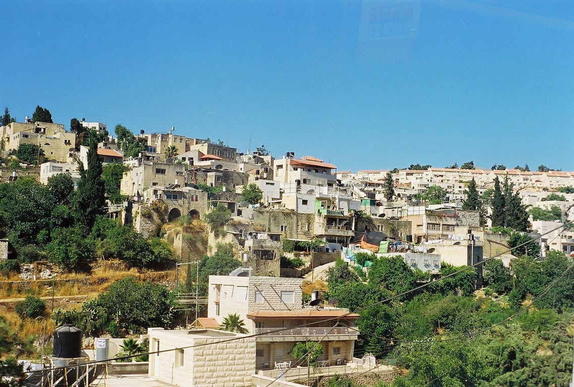 A village near the road west from Jerusalem. The Middle East