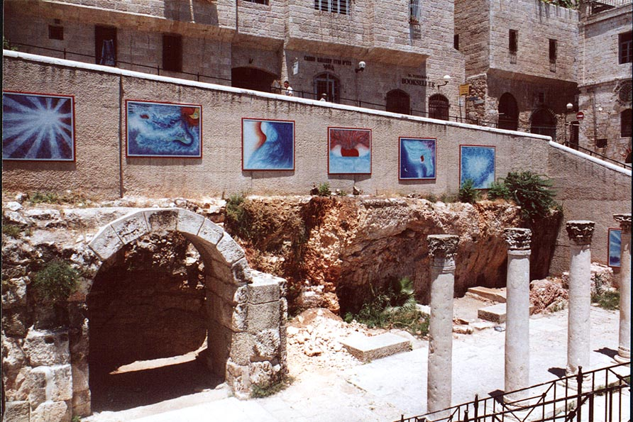 Excavations on Cardo St. in the Old City. Jerusalem, the Middle East