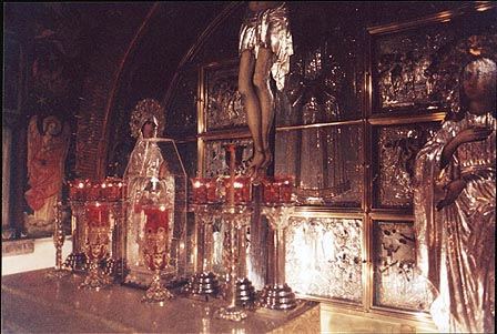 An altar of the Church of the Holy Sepulchre in the Old City. Jerusalem, the Middle East