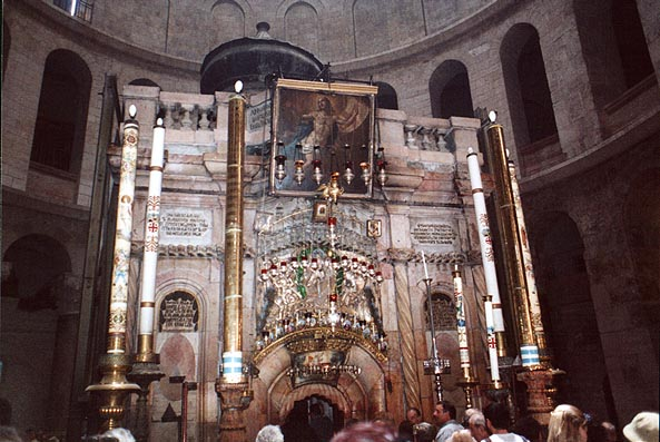 Holy Sepulchre (where the body of Jesus was laid...of turn. Jerusalem, the Middle East