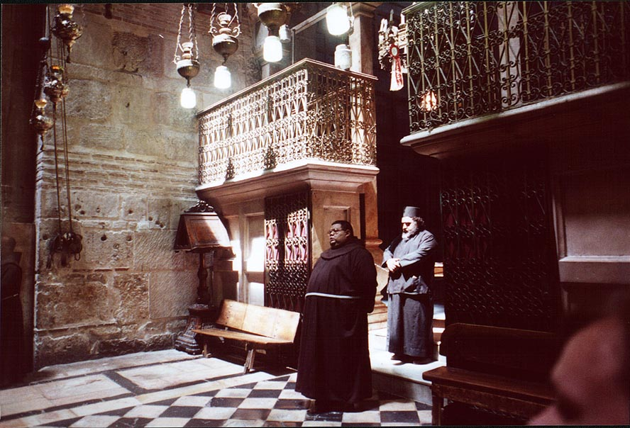 Rotunda of the Church of the Holy Sepulchre in...a mass. Jerusalem, the Middle East