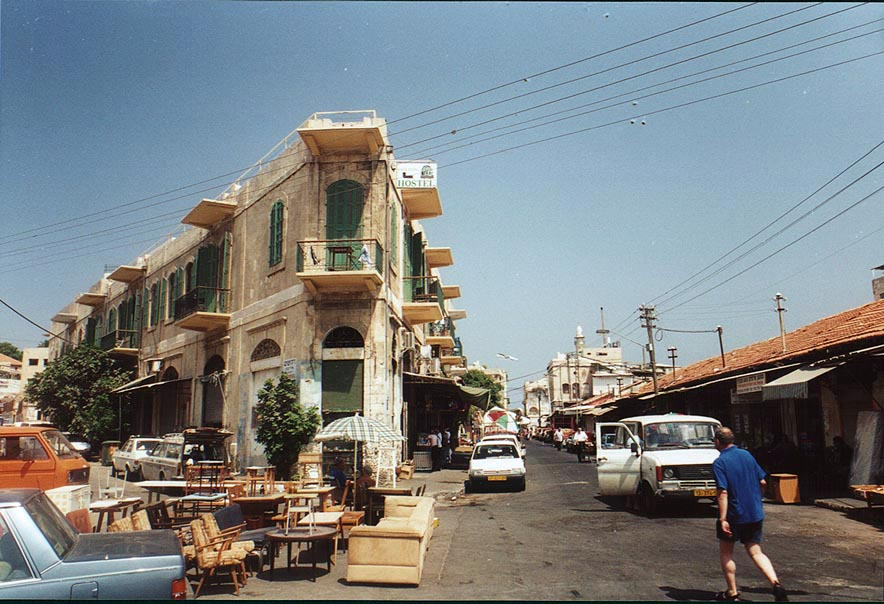 A hostel at intersection of Beit Eshel and Olei Tsiyon St.. Jaffa, the Middle East